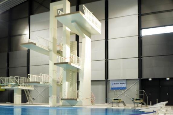 Psv masters swimming eindhoven - Zwembad toren in kiezelsteen ...